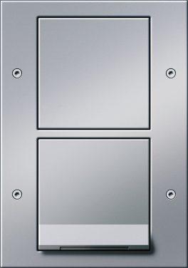 Combinatie intrerupator si priza cu capac_TX44_Aluminiu