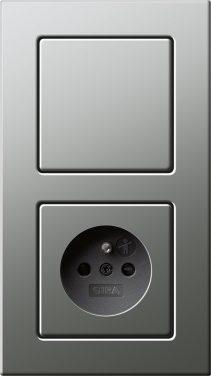Combinatie intrerupator si priza_E22_Otel special