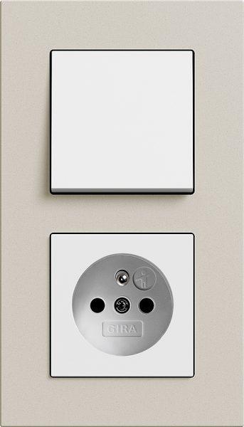 Combinatie intrerupator si priza_Esprit Linoleum Multiplex_Crem-Alb lucios